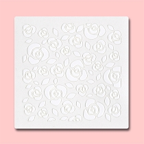 Seamless Roses -  Bakery Decorating Stencil - Square 5.5